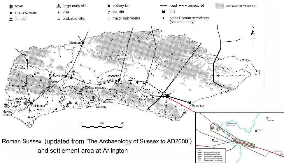 roman settlements in east sussex